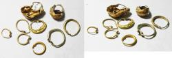 ANCIENT ROMAN GROUP OF GOLD JEWELLERY. 100 - 200 A.D