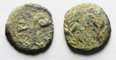 Ancient Coins - AS FOUND: 	JUDAEA, Procurators. Pontius Pilate. 26-36 CE. Æ Prutah