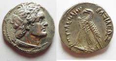 Ancient Coins - Egypt. Ptolemaic kings. Ptolemy V Epiphanes or Ptolemy VI Philometor (204-180 BC or 180-145 BC). AR tetradrachm (27mm, 14.12g). Alexandria mint.