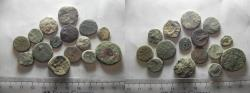 Ancient Coins - LOT OF 15 ANCIENT BRONZE GREEK COINS