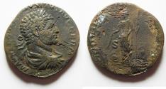 Ancient Coins - Caracalla. AD 198-217. Æ Sestertius . Rome mint.