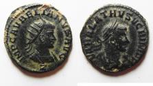Ancient Coins - AURELIAN & VABALATHUS AE ANTONINIANUS. NICE
