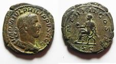Ancient Coins - Roman Empire - Philip I (244 - 249 A.D.) bronze sestertius