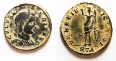 Ancient Coins - Galeria Valeria (AD 293-311) Æ Follis. original desert patina
