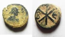 Ancient Coins - Justin I, Pentanummium, 518-527, Constantinople.