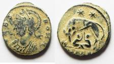 Ancient Coins - ORIGINAL DESERT PATINA. CONSTANTINE I COMMEMORATIVE ISSUE. SHE-WOLF AE 3
