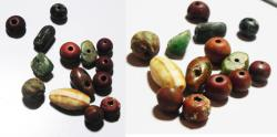 Ancient Coins - ANCIENT EGYPT, LOT OF 14 STONE BEADS. NEW KINGDOM. 1400 - 1100 B.C