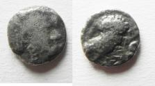 Ancient Coins - ARABIA, Southern. Saba'. Late 4th–mid 2nd centuries BC. AR tmrt – Quarter Unit (10mm, 0.98 g). Imitating Athens.