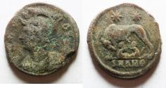 Ancient Coins - CONSTANTINE I AE 3 . COMMEMORATIVE ISSUE WITH SHE-WOLF