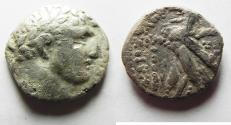 Ancient Coins - Phoenicia. Tyre. AR half shekel. Struck in 1ST CENT. A.D