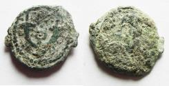 Ancient Coins - AS FOUND. JUDAEA. HEROD I THE GREAT AE PRUTAH