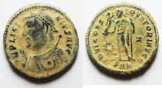 Ancient Coins - 	ORIGINAL DESERT PATINA. LICINIUS I AE FOLLIS