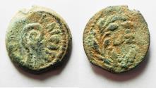 Ancient Coins - JUDAEA, BEAUTIFUL PRUTAH OF PONTIUS PILATE.