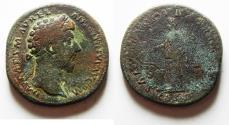 Ancient Coins - ROMAN IMPERIAL. MARCUS AURELIUS AE SESTERTIUS