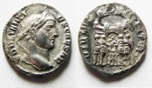Ancient Coins - ROMAN IMPERIAL. Constantius I, as Caesar (AD 293-305). AR argenteus (19mm, 2.86g). Siscia mint. Struck AD 294.