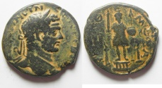 Ancient Coins - Apparently unpublished variety. Arabia. Rabbathmoba under Geta (AD 209-211). AE 29mm