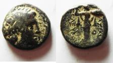 Ancient Coins - GREEK. Seleukid Empire. Seleukos I Nikator (312-281 BC).  AE 18mm, 6.73g. Antioch mint. Struck c. 300-281 BC.