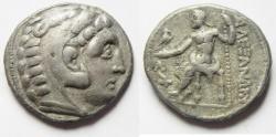 Ancient Coins - GREEK. Macedonian kings. Alexander III the Great (336-323 BC). AR tetradrachm (27mm, 16.77g). Amphipolis mint. Struck c. 315-294 BC