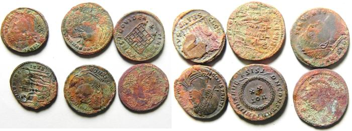 Ancient Coins - LOT OF 6 HIGH QUALITY ROMAN AE 3