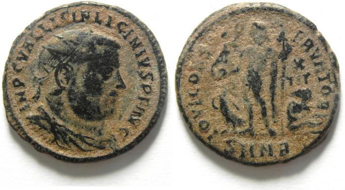 Ancient Coins - LICINIUS I AE FOLLIS , AS FOUND