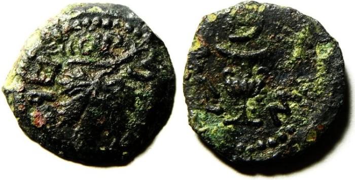 Ancient Coins - JUDAEA, JEWISH WAR AE PRUTAH, NICE