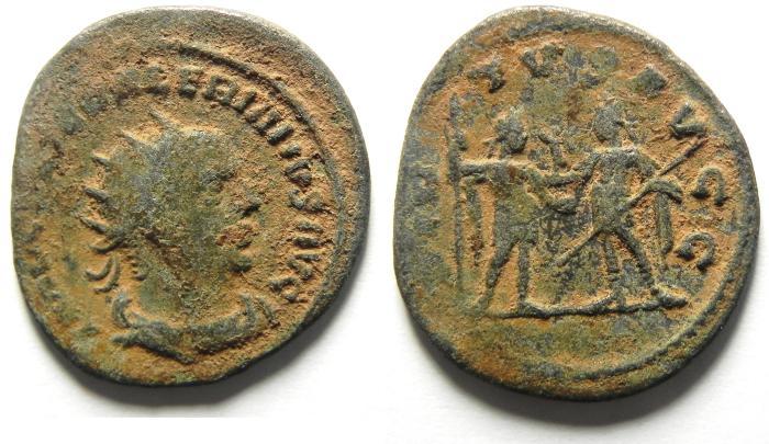 Ancient Coins - VALERIAN I BILLON ANTONINIANUS , AS FOUND