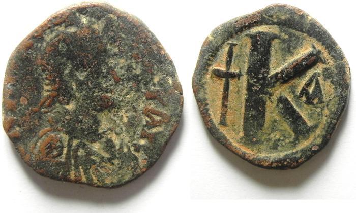 Ancient Coins - ANASTASIUS AE HALF FOLLIS