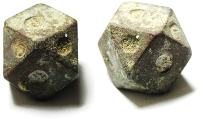 Ancient Coins - ISLAMIC , UMMAYED OR ABBASID BRONZE WEIGHT , 30.03 GM = 10 DERHAMS , SEVERAL COUNTERMARKS