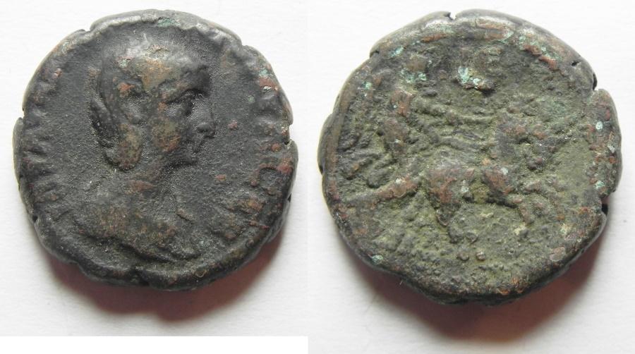 Ancient Coins - Egypt. Alexandria under Aquilia Severa (Augusta, AD 220-222. Billon tetradrachm (23mm, 13.62g). Struck in regnal year 5 of Elagabalus (AD 221/2).