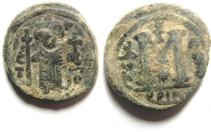 World Coins - ARAB BYZANTINE AE FALS , DAMASCUS MINT