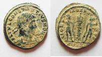Ancient Coins - AS FOUND CONSTANTIUS II AE 4 . NICE DESERT PATINA
