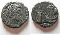 Ancient Coins - NICE EXAMPLE. PHAROS OF ALEXANDRIA: Egypt. Alexandria under Commodus (AD 177-192). Billon tetradrachm (24mm, 11.84g).