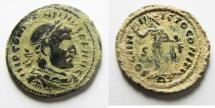 Ancient Coins - BEAUTIFUL AS FOUND: CONSTANTINE I AE FOLLIS