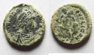 Ancient Coins - ROMAN AE 4 . NICE AS FOUND