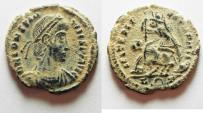 Ancient Coins - BEAUTIFUL AS FOUND. CONSTANTIUS II AE 3 . ROME MINT