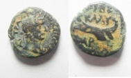 Ancient Coins - Dora under Trajan. (AD 98-117). AE 13 Struck in civic year 175 (AD 111/12).