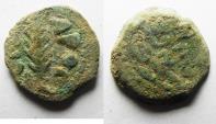 Ancient Coins - AS FOUND: Judaea, Jerusalem. Porcius Festus. Procurator Under Nero. 59-62 C.E. Æ prutah