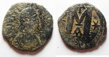 Ancient Coins - Byzantine. Justin I AE Follis. Constantinople