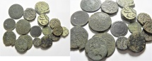 LOT OF ISLAMIC AE COINS, VARIOUS CIVILISATIONS. HAJ ROUTE . 18 PCS