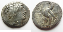 Ancient Coins - GREEK. Seleukid kings. Antiochos VIII Grypos (121/0-96 BC). AR tetradrachm (29mm, 12.71g) Ascalon mint. Struck in SE 201 (112/11 BC).