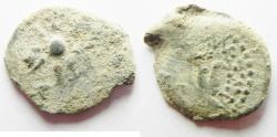 Ancient Coins - Judaea, Alexander Jannaeus, 103-76 BC, AE Prutah . Widow's Mite