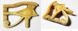 Ancient Coins - ANCIENT EGYPT, NEW KINGDOM. IVORY EYE OF HORUS AMULET. 1400 - 1100 B.C