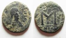 Ancient Coins - BYZANTINE. JUSTIN I AE FOLLIS