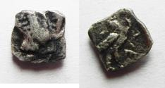 Ancient Coins - PHILISTO-ARABIAN SILVER OBOL . IMITATING ATHENS