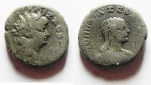 Ancient Coins - EGYPT, Alexandria. Nero. 54-68 AD. AR Tetradrachm. with Poppaea