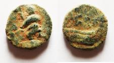 Ancient Coins - Phoenicia. Berytos. Pseudo-autonomous issue, time of Elagabalus (c. AD 218-222). AE 11mm, 1.21g.