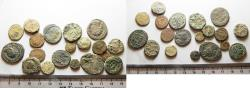 Ancient Coins - AS FOUND. LOT OF 20 ROMAN BRONZE COINS