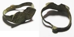 Ancient Coins - ANCIENT ISLAMIC BRONZE RING. 700 - 1000 A.D
