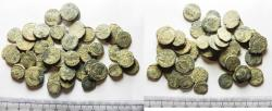 Ancient Coins - LOT OF 45 ANCIENT BRONZE ROMAN COINS