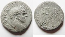 Ancient Coins - ROMAN PROVINCIAL.  Cyprus  under Caracalla (AD 198-217). Billon tetradrachm (24mm, 8.48g). Struck c. AD 215-217.